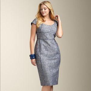 Talbots Emma Chambray Classic Sheath Dress